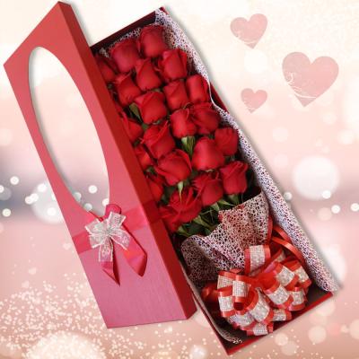 קופסת ורדים,לשלוח זר ורדים אדומים
