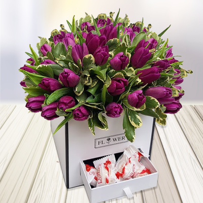 זר טוליפים משלוחי פרחים תל אביב