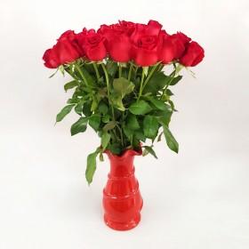 21 ורדים אדומים כולל הגרטל