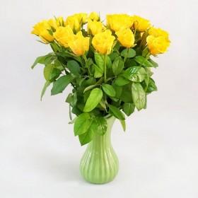 30  ורדים צהובים כולל הגרטל